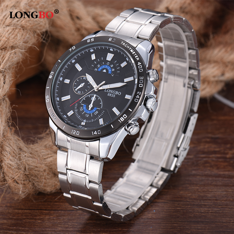 LONGBO Brand Men Sports Watches Military Business Watches Men Full Steel Waterproof Quartz Male Watch Reloges Masculino 8835 2016 biden brand watches men quartz business fashion casual watch full steel date 30m waterproof wristwatches sports military wa
