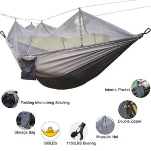 Image 2 - עמיד ערסל אוהל חוזק גבוהה מצנח בד תליית מיטת שינה עם כילה עבור חיצוני קמפינג נסיעות הישרדות