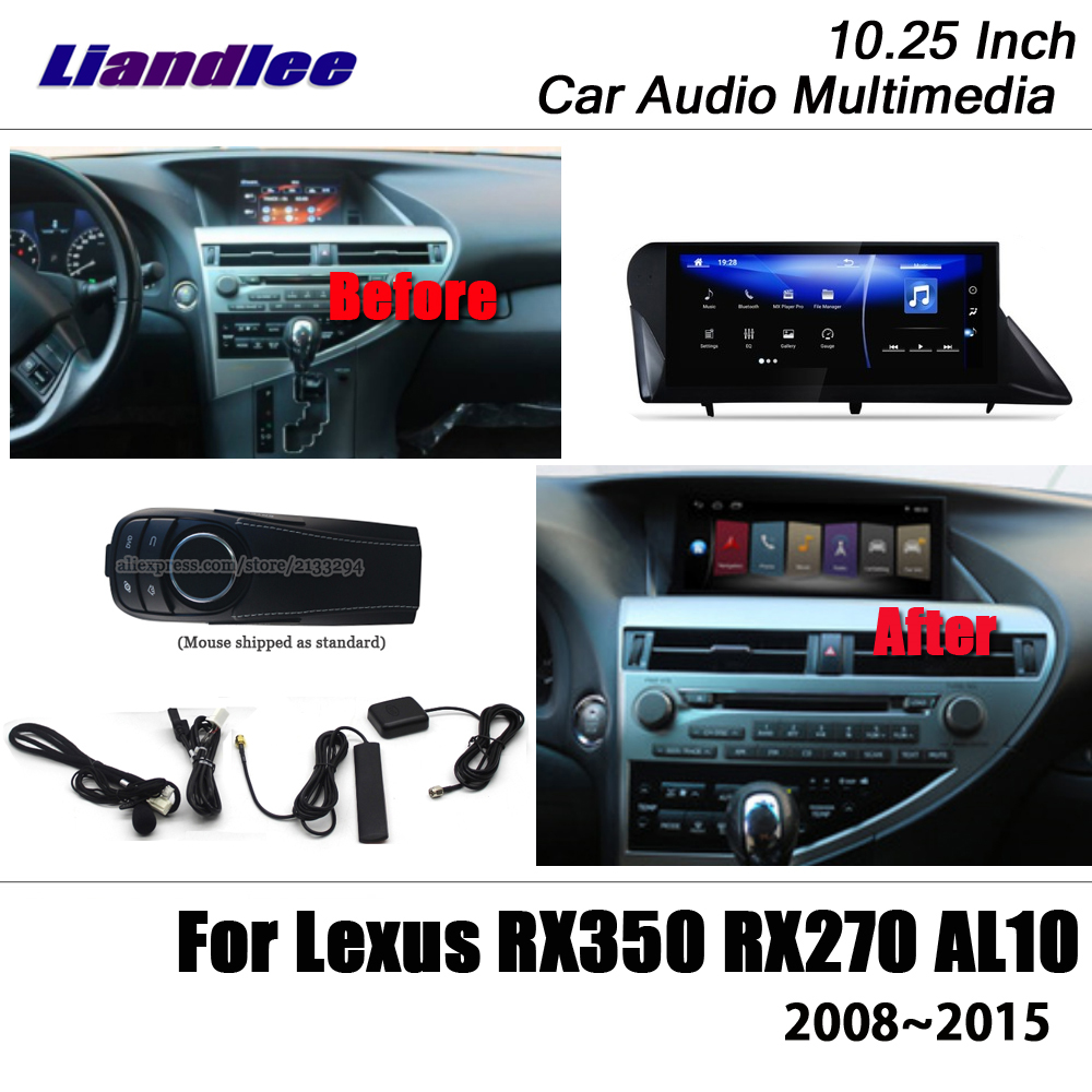 Liandlee 10 25 Android For Lexus RX350 RX270 AL10 2008 2015 Stereo Wifi With Mouse Carplay