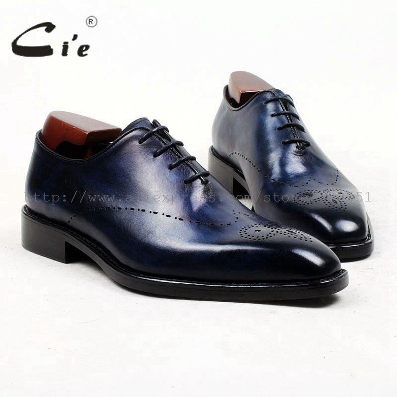 Cie/мужские полностью открытые туфли ручной работы с квадратным носком, полные броги, медальоны, кожаные туфли на заказ, Мужские модельные туфли из натуральной кожи до икры, OX448
