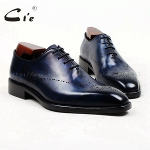 Image 1 - cie square toe whole cut full brogues medallion handmade men shoe bespoke leather shoe genuine calf leather mens dress OX448