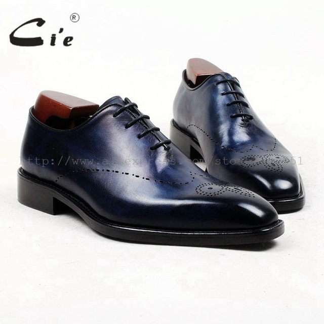 cie square toe whole cut full brogues medallion handmade men shoe bespoke leather shoe genuine calf leather mens dress OX448