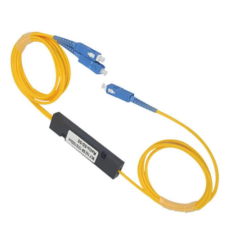 10 pcs/lot séparateur optique 1X2 Plc séparateur SC/UPC MINI PLC 1X2 séparateur de fibre optique monomode, 1:2 SC séparateur de plc UPC