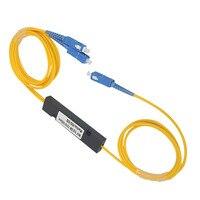 10pcs/lot Optical Splitter 1X2 Plc Splitter SC/UPC MINI PLC 1X2 Single mode fiber optic splitter,1:2 SC UPC plc splitter