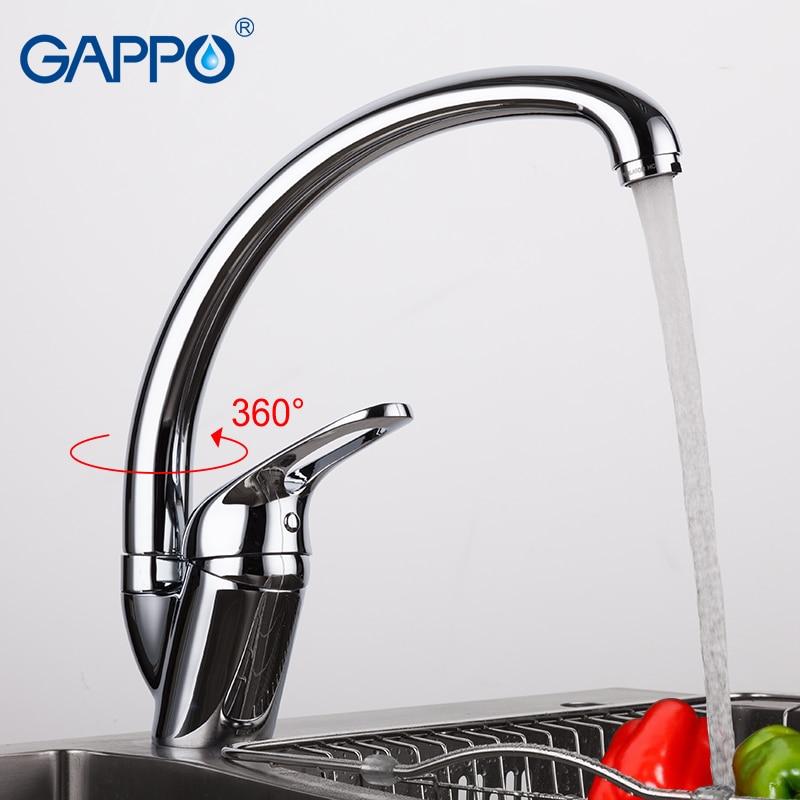 GAPPO Brass Kitchen Faucet Water Mixer Taps Kitchen Mixer Faucet Kitchen Water Tap Single Handle Kitchen Mixer Faucet