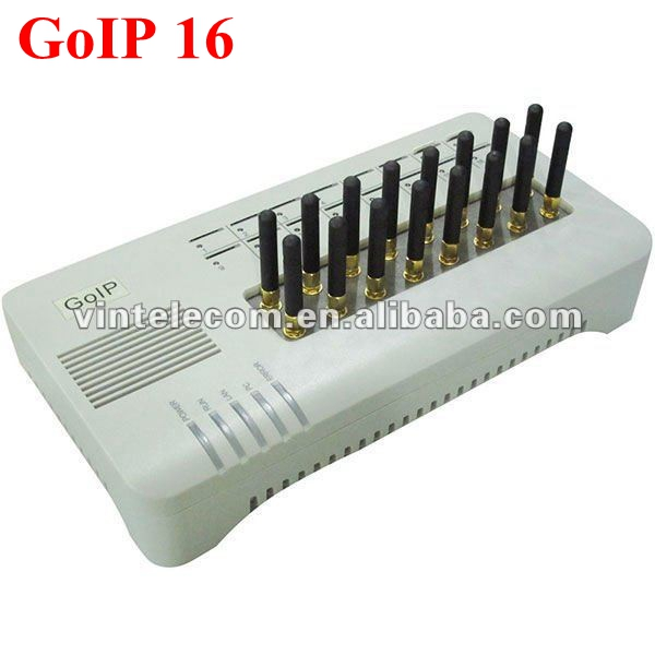 16 chips GSM VoIP Gateway GoIP16, VoIP SIP GSM Router gateway GoIP 16 for IP PBX(with short antennas) - Sales Promotion