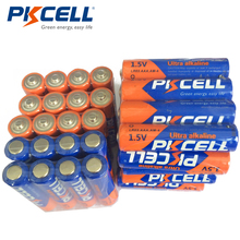 40pcs PKCELL AAA 1.5V Batteries LR03 Alkaline Battery E92 AM4 MN2400 3A Single Use Battery for Toothbrushes Electronic thermogun