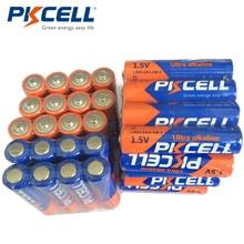 40pcs PKCELL Batterie da 1.5V AAA Batteria Alcalina LR03 E92 AM4 MN2400 3A Uso Singola Batteria per Spazzolini Da Denti Elettronico thermogun