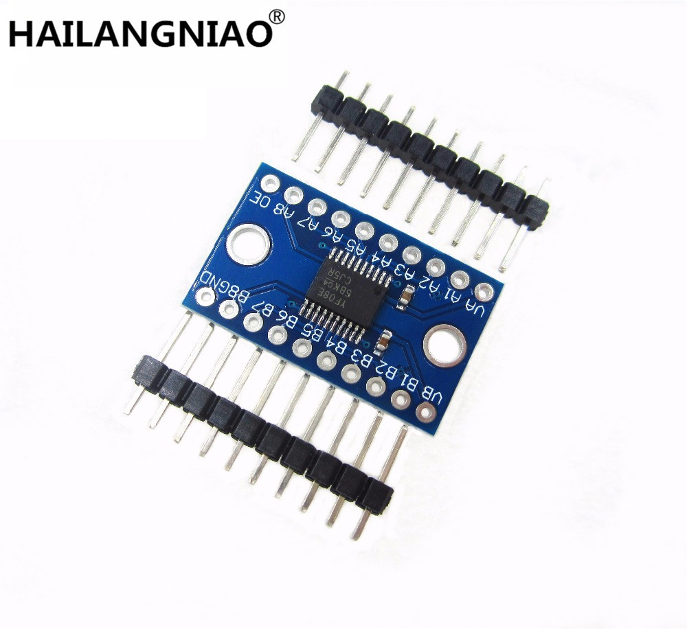 Txs0108e 8 canal Logic level convertidor TTL bidireccional 3,3v 5v