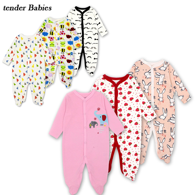 68460d14af12 tender Babies brand cotton fabric baby girl boy rompers autumn ...