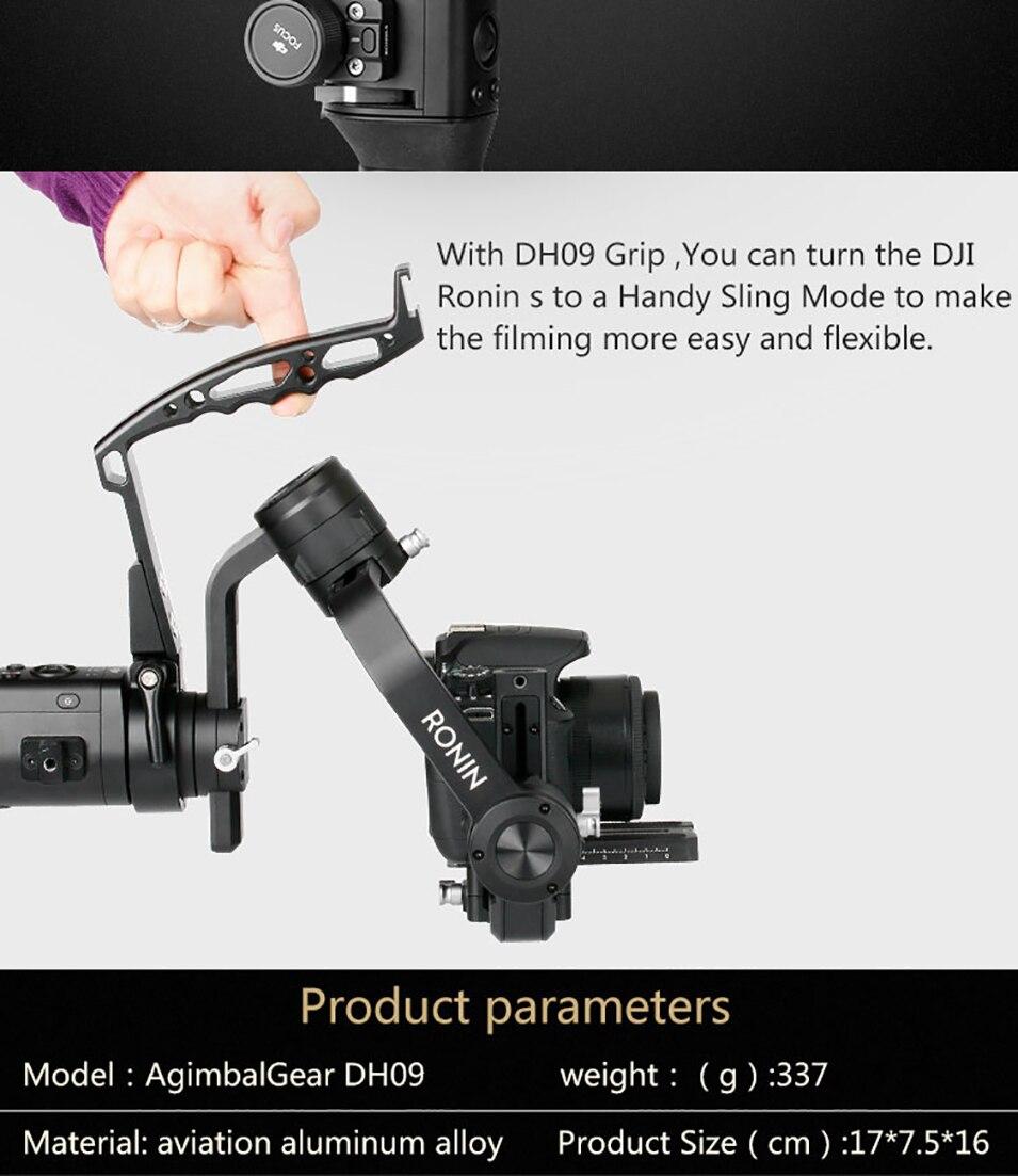 Gimbal Accessories Inverted Handle Sling Grip Neck Ring Mounting Extension Arm for DJI Ronin S Zhiyun Crane 2 /Plus Feiyu AK4000 3
