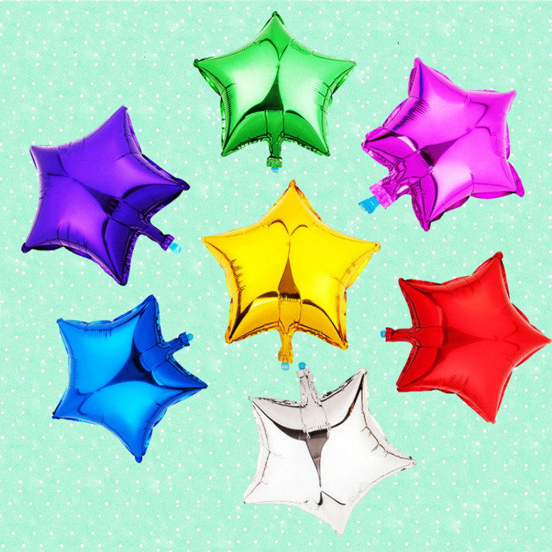 Wedding Decoration 10 inch Star Foil Helium Party Birthday Balloons Metallic Wed