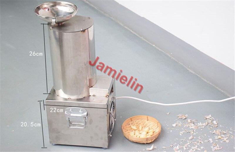 garlic peeler size