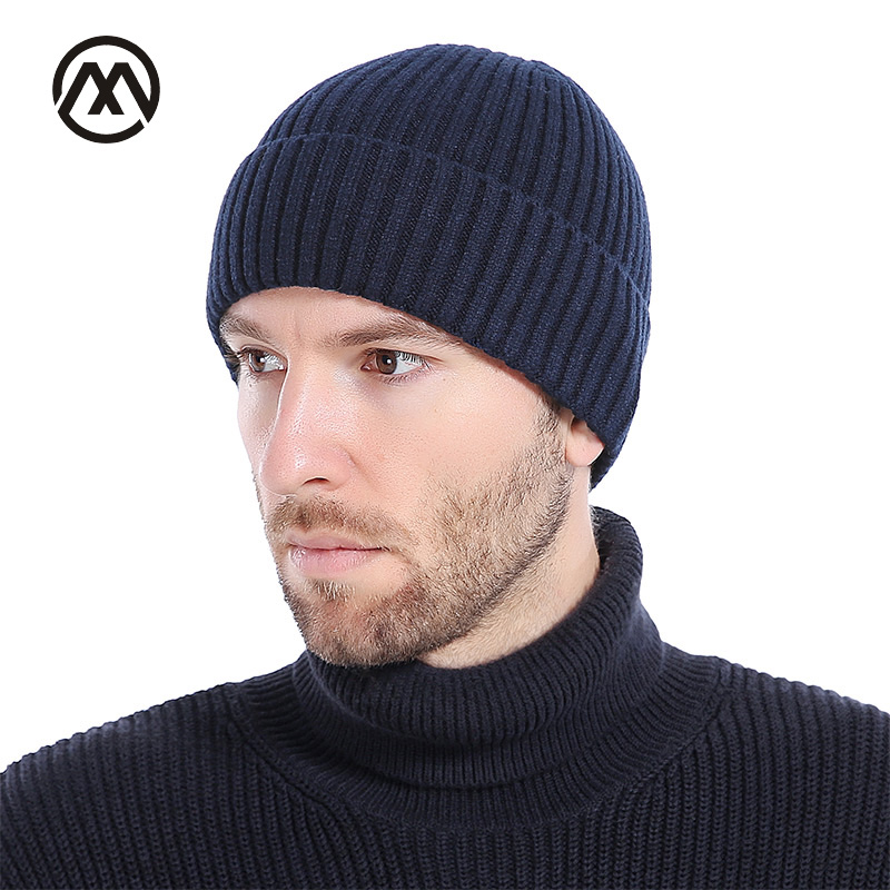 Men's Winter Warm Winter Hats Thick Wool Soft Knit Hats Stylish Casual Beanie  Skullies Cozy Cotton Ski Warm Protect Ear Hats
