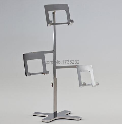 Wallet <font><b>Display</b></font> Rack Handbag Presentation <font><b>Display</b></font> Stand Stainless Steel irregular High-grade Showcase Rack