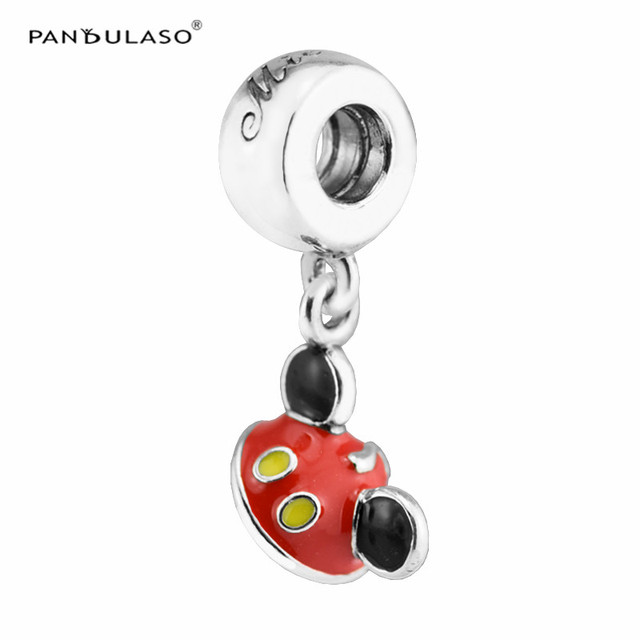 Pandulaso Mouse Ear Hat Red & Black Enamel Beads for Jewelry Making...
