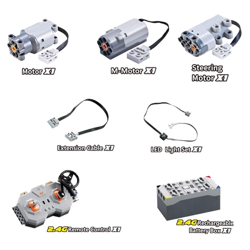 El motor el tren técnico Control remoto interruptor de la caja de la batería con la función de alimentación de la luz Led C61016 C61016W pieza de repuesto-in Bloques from Juguetes y pasatiempos    2
