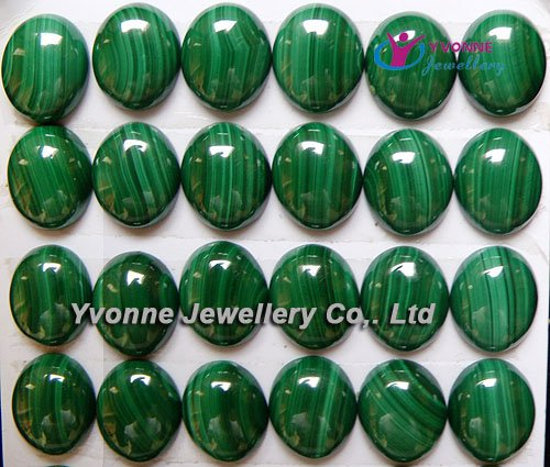 YA0357 Natural A Malachit Oval CAB Cabochon 10x12mm Free shipping