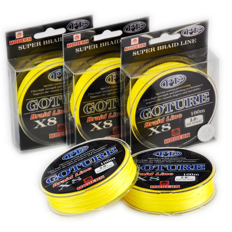 100m goture8x modern fishing brand 1m 1color japan pe for Fishing line brands