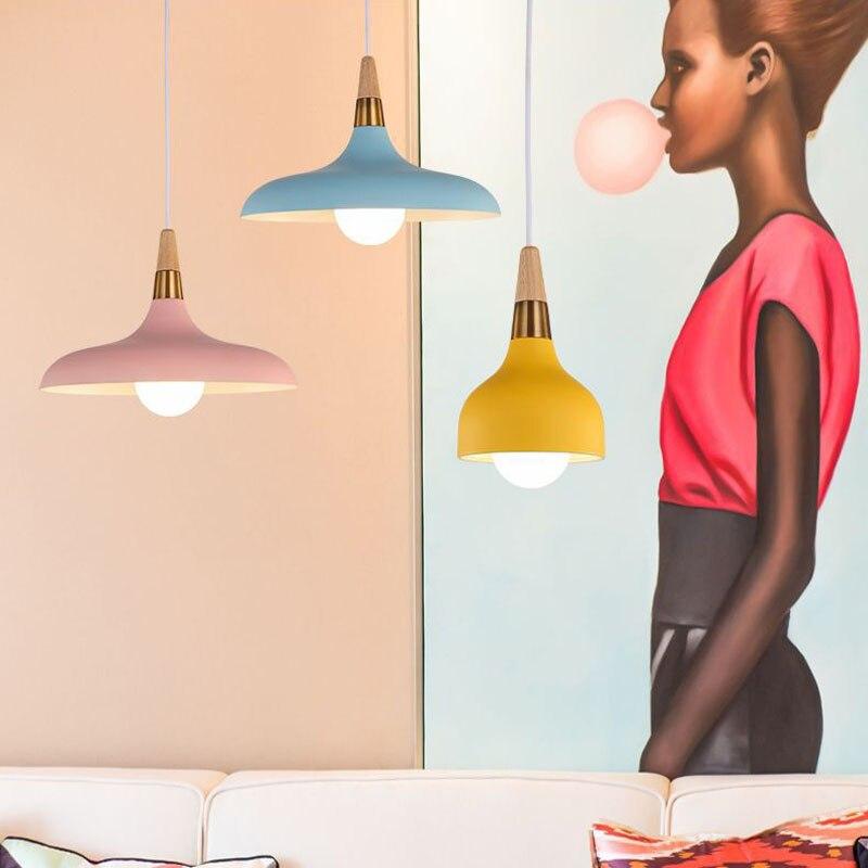 Lampara Colgante Pendant Lights Lustres Abajur Pendant Lamp Luminaire Hanglamp Wood Aluminum Lamp Shade For Home Lighting Dining (7)