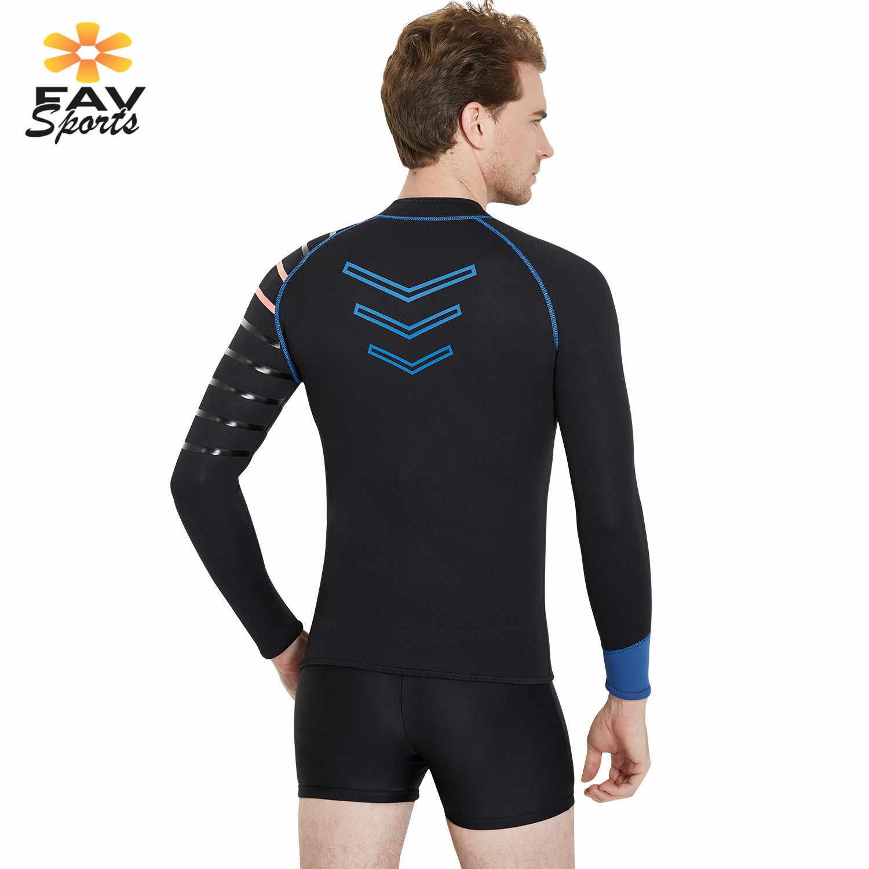 3mm Underwater Scuba Diving Wetsuit Untuk Pria Neoprene Berselancar Berenang Pakaian Renang Rashguard