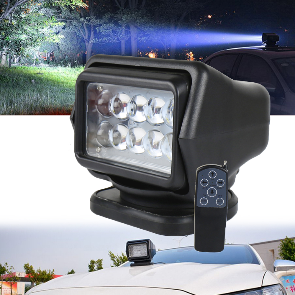 Remote Control Spotlight For SUV Car Marine Searchlight 12V 100W Bulb Time-Proof
