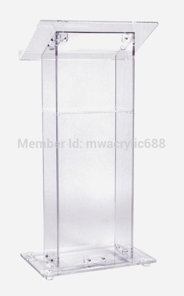 Pulpit Furniture Free Shiping Cheap Clear Acrylic Lectern Acrylic Podium Plexiglass