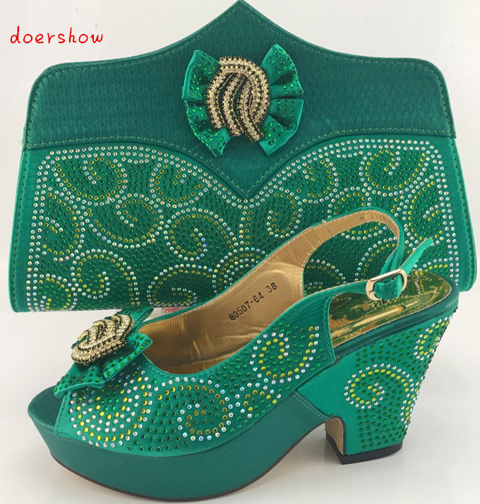 doershow African Shoes and Matching Bags Italian Women Shoes and Bags To Match Set Sale Italian Women Shoes and Bag  PME1-6 italian shoes with matching bags african women shoes and bags set in hot selling blue shoes and bag set to matching hjx1 12