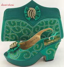 doershow African Shoes and Matching Bags Italian Women Shoes and Bags To Match Set Sale Italian Women Shoes and Bag  PME1-6