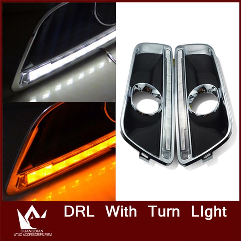 Tcart специальные конструкции автомобиля DRL для Шевроле Малибу дневного света для Malibu DRL с turnlight функция Бесплатная доставка