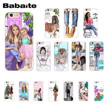 цена на Babaite Fashion Black Brown Hair Baby Mom Girl Christmas Tree TPU Soft Phone Case for iPhone 8 7 6 6S Plus X XS MAX 5 5S SE XR