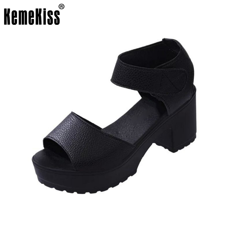 Women Summer shoes white Black fashion platform soft PU sandals women's high-heeled shoes thick heel sandals size 35-39 WC0091 aird alisdair stapley fiona good guide to dog friendly pubs hotels and b