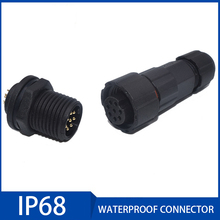 20A Waterproof Aviation Connector IP68 2/3/4/5/6/7/8/9/10/11/12 Pin Sensor Docking Male Female Plug and Socket Cable Connectors waterproof connector aviation plug sp16 type ip68 cable connector socket male and female industry wire cable 2 3 4 5 6 7 9 pin