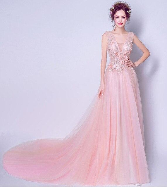Sexy romántico rosa bebé vestido de fiesta 2017 vestidos de partido ...