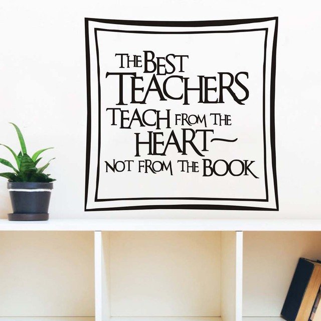 The best teachers teach from the heart wall stickers removable vinyl art wall decals baby nursery