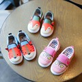 Kids Shoes Boys Girls Cartoon Design Canvas Children Sneakers Casual Shoes Students Breathable Soft Animal Design Loafers