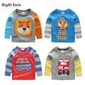 2017 Spring Baby Boy Embroidered long sleeve T-shirt Pure Cotton Kids Tee children's clothing child baby basic shirt top u2343