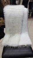 새로운 모피 완장 의류 액세서리 흰색 너구리 모피 소매 신발 액세서리 캐시미어 코트 모피 액세서리