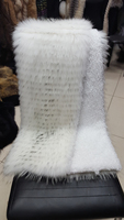 New fur with armbands clothing accessories white raccoon fur cuffs vamp shoes accessories cashmere coat fur accessories