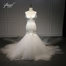 Fmogl Illusion Mermaid Wedding Dresses Chapel Train