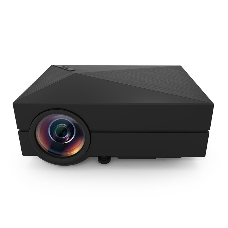 GM60 1000 Lumens MINI LED Projector For HD Video Games TV Home Theater Movie Support HDMI VGA AV SD Portable Proyector Black