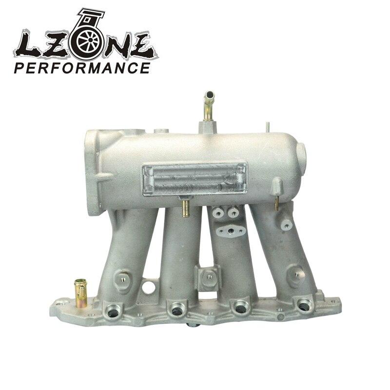 LZONE RACING - FOR 99-00 Honda Civic 92-01 Acura Integra Aluminum Cast Intake Manifold Upgrade Bolt On JR-IM42CA pqy racing cast aluminium intake manifold for 93 98 supra 2jzgte for toyota 2jz intake manifold high quality new brand