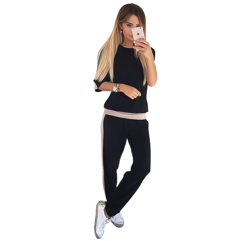 Fashion Two Piece Set Sports Suit Womens Two-piece Long Sleeve O-neck Women Clothes Outfits Jogging Femme