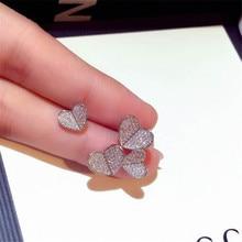 Heart love Earrring AAAAA Cz Real 925 sterling silver Engage