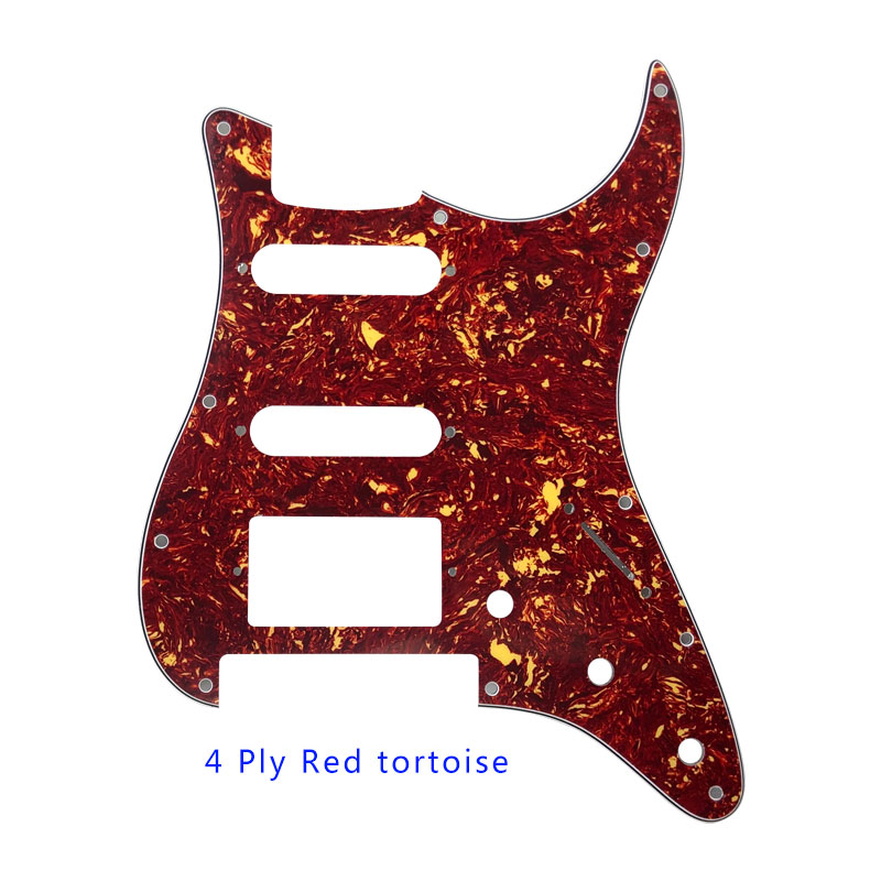 Pleroo Guitar Accessories strat HSS Pickguard and 11 Screws for Fender Stratocaster Floyd Rose Bridge Cut with PAF Humbucker in Guitar Parts Accessories from Sports Entertainment