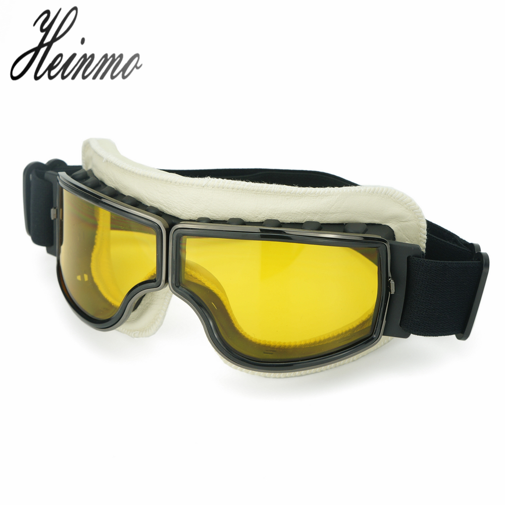 Vintage Harley style motorcycle gafas motocross moto goggles Scooter Goggle Glasses Aviator Pilot Cruiser