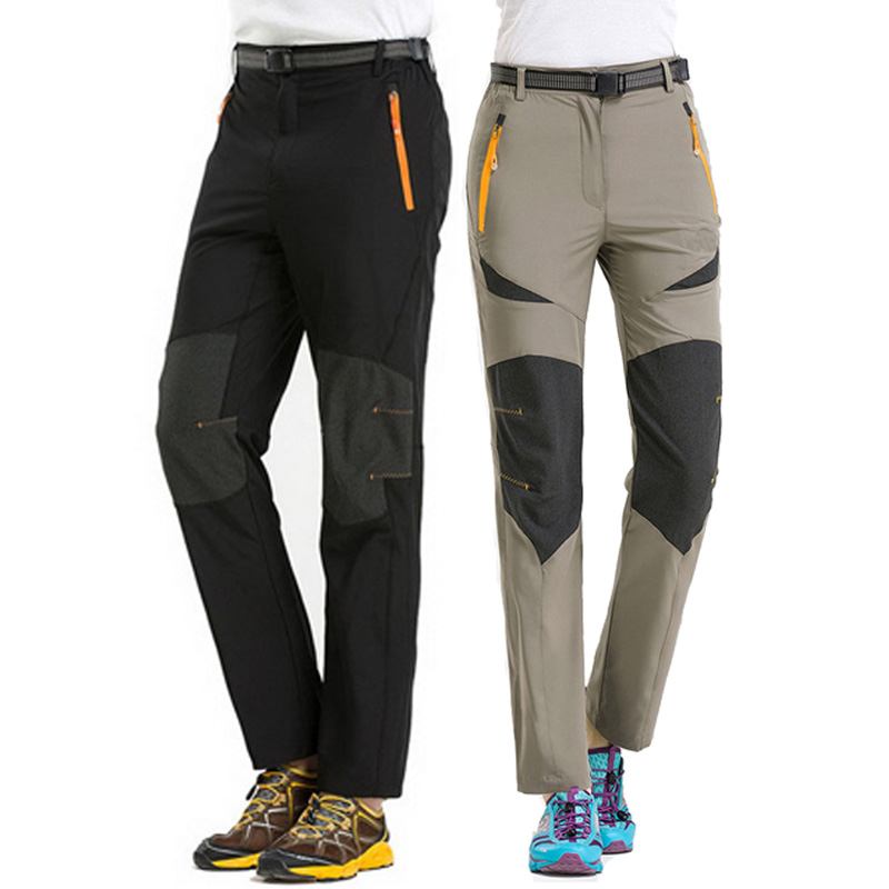 Prix pour Salut-Q Stretch Nylon Imperméable Randonnée Pantalon Femmes Hommes Vélo Mince À Séchage Rapide Pantalons Camping Trekking Escalade Sport Pantalon, AW021