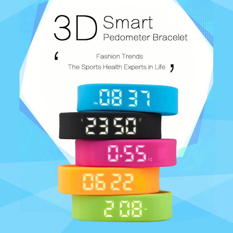 Smart Bracelet LED Display with Pedometer Calories Time and Date Intelligent Wristband Smart band Smart Watch Without Connect