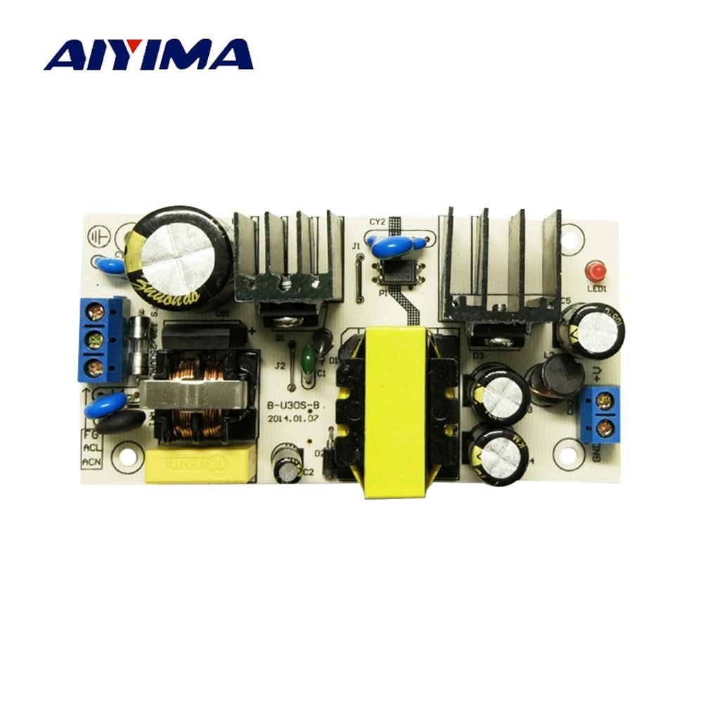 все цены на Aiyima 2017 New Product AC-DC Power Supply Module Dual Input AC85-265V/DC100-370V to DC12V 3A Switching Power Supply Board онлайн