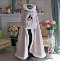 Bridal Cape Ivory Stunning Wedding Cloaks Hooded with Faux Fur Trim Ankle Length Red White Perfect For Winter Long Wraps